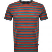 Product Image for PS By Paul Smith Stripe Regular Fit T Shirt Blue