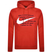 Product Image for Nike Swoosh Logo Hoodie Red
