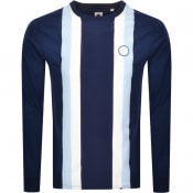 Product Image for Pretty Green Crew Neck Long Sleeve T Shirt Navy