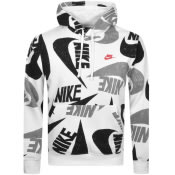 Product Image for Nike Club Logo Hoodie White