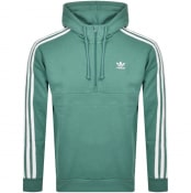Product Image for adidas Originals 3 Stripes Half Zip Hoodie Green