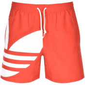 Product Image for adidas Originals Trefoil Logo Shorts Red