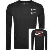 Product Image for Nike Heritage Long Sleeve Logo T Shirt Black