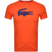 Product Image for Lacoste Sport Crew Neck Logo T Shirt Orange