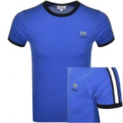 Product Image for Lacoste Sport Taped Logo T Shirt Blue