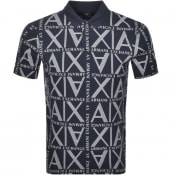 Product Image for Armani Exchange Short Sleeve Polo T Shirt Navy