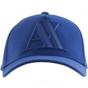 Product Image for Armani Exchange Logo Cap Blue