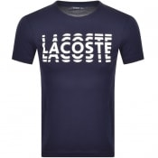 Product Image for Lacoste Sport Logo T Shirt Navy