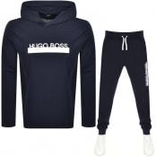 Product Image for BOSS Bodywear Lightweight Identity Tracksuit Navy