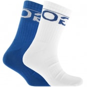 Product Image for HUGO Logo Sport Socks Double Pack Blue
