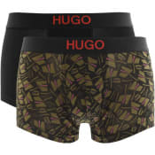 Product Image for HUGO Two Pack Brother Boxers Black