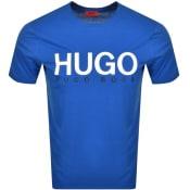 Product Image for HUGO Dolive Crew Neck Short Sleeve T Shirt Blue