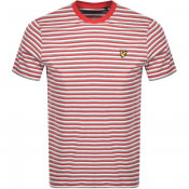 Product Image for Lyle And Scott Multi Striped T Shirt Red