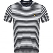 Product Image for Lyle And Scott Multi Striped T Shirt Navy