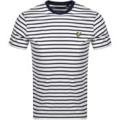 Product Image for Lyle And Scott Breton Stripe T Shirt Navy