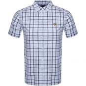 Product Image for Lyle And Scott Short Sleeved Checked Shirt Blue