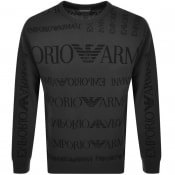 Product Image for Emporio Armani Crew Neck Logo Knit Jumper Grey