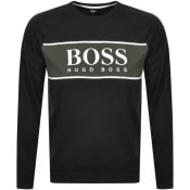 Product Image for BOSS Bodywear Authentic Crew Neck Sweatshirt Black