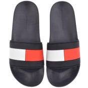 Product Image for Tommy Hilfiger Flag Sliders Navy