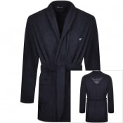 Product Image for Emporio Armani Logo Dressing Gown Navy