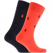 Product Image for Ralph Lauren 2 Pack Classic Crew Socks Red