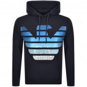 Product Image for Emporio Armani Pullover Logo Hoodie Navy