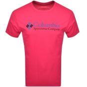 Product Image for Columbia Basic Logo T Shirt Pink