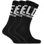 Product Image for Diesel SKM RAY Three Pack Socks Black