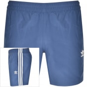 Product Image for adidas Originals 3 Stripes Swim Shorts Navy