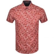 Product Image for Ted Baker Floral Print Short Sleeved Shirt Red