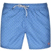 Product Image for Ted Baker Suspect Leaf Print Swim Shorts Blue