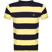 Product Image for Gant Original Barstripe T Shirt Yellow
