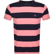Product Image for Gant Original Barstripe T Shirt Pink