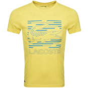 Product Image for Lacoste Sport Crew Neck Logo T Shirt Yellow