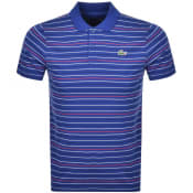 Product Image for Lacoste Sport Stripe Polo T Shirt Blue