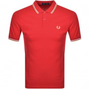 Product Image for Fred Perry Twin Tipped Polo T Shirt Red
