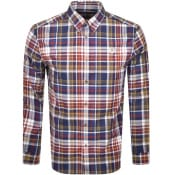 Product Image for Fred Perry Tartan Long Sleeved Shirt Navy