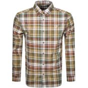 Product Image for Fred Perry Tartan Long Sleeved Shirt Green