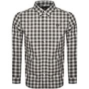 Product Image for Fred Perry Tartan Long Sleeved Logo Shirt Navy