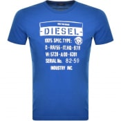 Product Image for Diesel T Diego S1 Short Sleeved T Shirt Blue