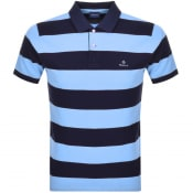 Product Image for Gant Barstripe Rugger Polo T Shirt Blue