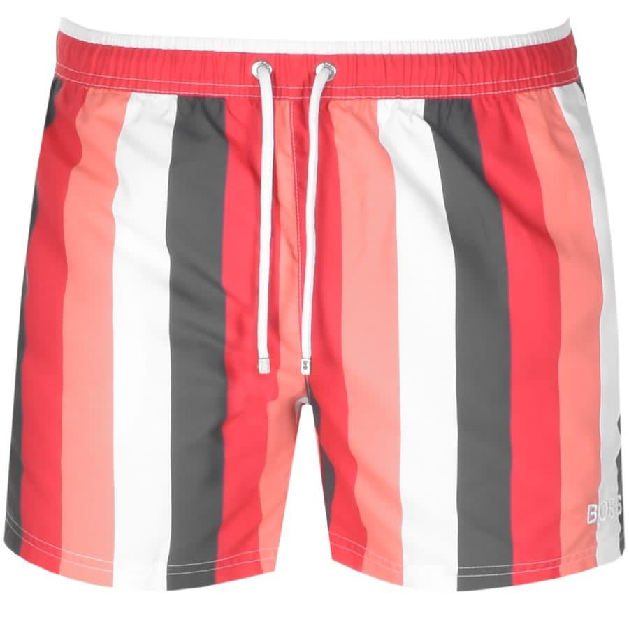 hugo boss red swim shorts