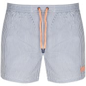 Product Image for BOSS HUGO BOSS Velvetfish Stripe Swim Shorts Blue