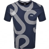 Product Image for BOSS Tee 7 UV Short Sleeve T Shirt Navy