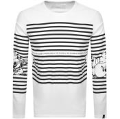Product Image for True Religion Long Sleeved Stripe T Shirt White