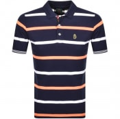 Product Image for Luke 1977 Striped New Mead Polo T Shirt Navy