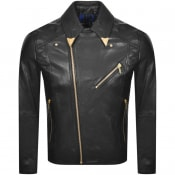 Product Image for Versace Jeans Couture Leather Jacket Black