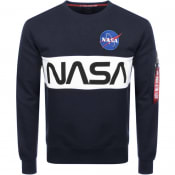Product Image for Alpha Industries Nasa Sweatshirt Navy