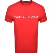 Product Image for Tommy Hilfiger Logo T Shirt Red