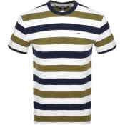 Product Image for Tommy Jeans Stripe T Shirt Khaki